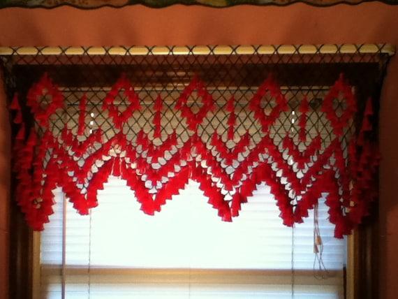 Handmade Window Valance with Tassels