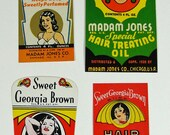 Paper Advertising Ephemera Labels Beauty Products 1980s Colorful Reproduction Fantasy Retro