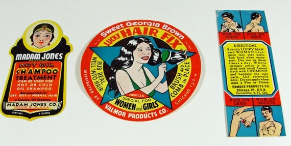Paper Beauty Products Labels Advertising Ephemera Lot 1980s Colorful Reproduction Fantasy Retro Kitsch