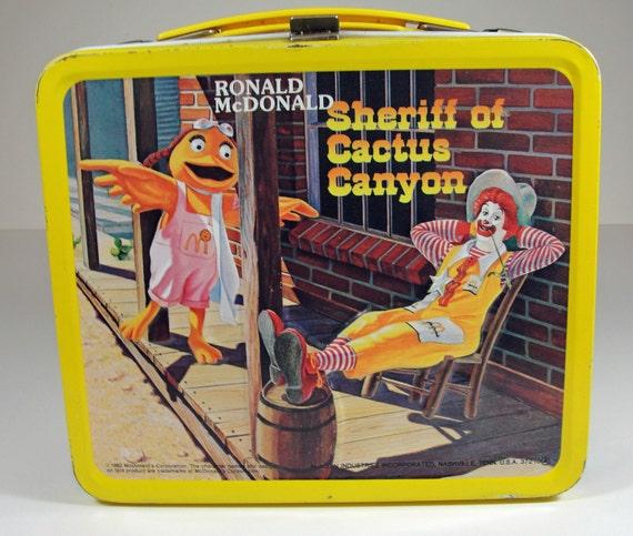 Sale Vintage Mcdonalds Metal Lunch Box 80s By Retrofitstyle