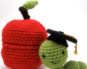 Apple with Worm Inside PATTERN-Graduation Gift-Absolutely Darling Crochet