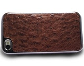 Leather  iPhone 4s case Ostrich (Brown)