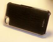 Leather Iphone 4/4s Case Shark Skin (Dark Brown)