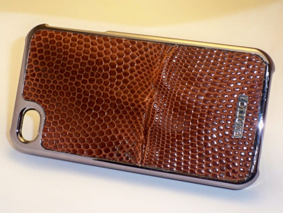 Leather Iphone 4/4s case Lizard Skin (Brown)