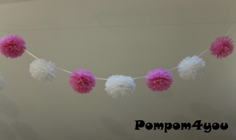 10 X 30 Small Tissue Paper Pom Poms Garland Bulk Buy Save Money