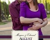 "Photo Save the Date ""Modern Love"" Wedding"