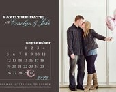 "Photo Save the Date ""Love Date"" Wedding Announcement"