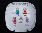 Personalized Hand Painted Family Plate