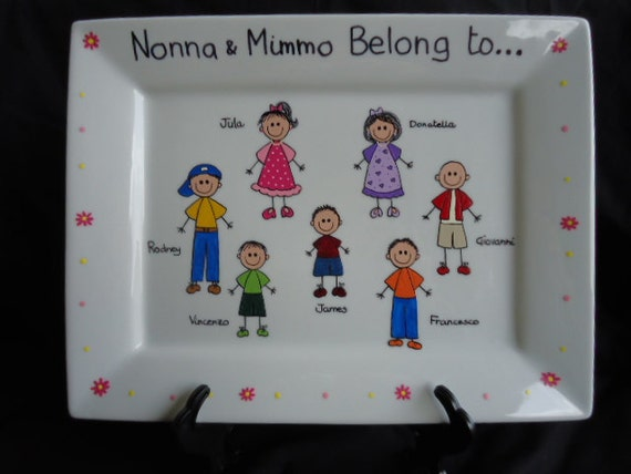 Personalized Hand Painted Family Platter