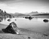 8X12 Black and White Seascape - Long Exposure, Zen, Fine Art Photography, Ocean, Home Decor