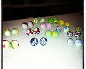 Assorted Fabric Button Earrings