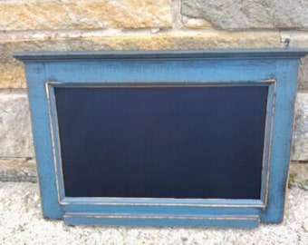 """Custom Handcrafted PRiMiTiVE Distressed Country Cottage Kitchen CHALKBOARD /16"""" x 24""""  Horizontal Style / Your choice from 18 COLORS"""