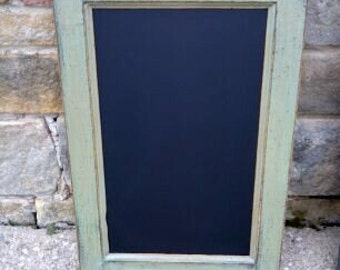"""Custom Handcrafted PRiMiTiVE Distressed Country Cottage Kitchen CHALKBOARD / 16"""" x 24"""" Vertical Style / Your choice from 18 COLORS"""