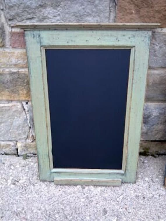 "Custom Handcrafted PRiMiTiVE Distressed Country Cottage Kitchen CHALKBOARD / 16"" x 24"" Vertical Style / Your choice from 18 COLORS"