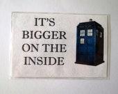 """Doctor Who Magnet, TARDIS """"It's Bigger on the Inside"""" Fridge Magnet"""