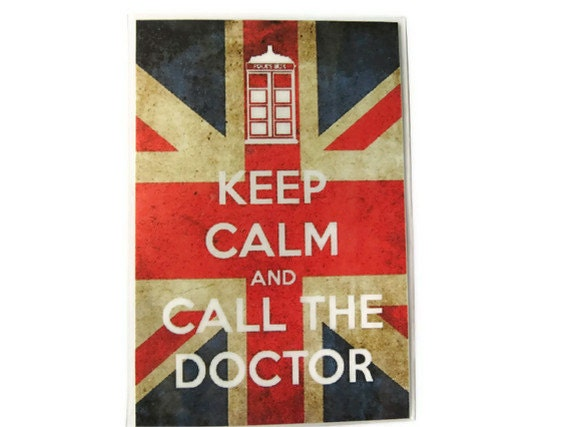 Doctor Who Magnet, Keep Calm and Call the Doctor Fridge Magnet