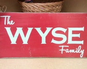 Custom Family Name Sign - Personalized
