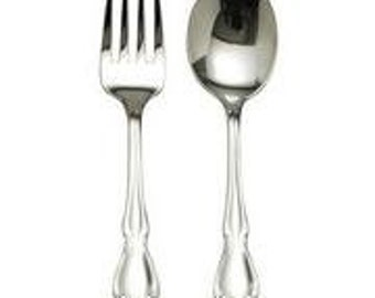 Personalized Engraved Oneida Baby Fork and Spoon Gift Set NEW