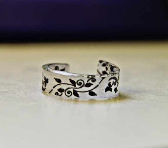 Floral Pattern Shrinky Dink Ring