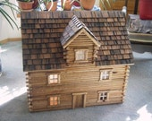 Log dollhouse