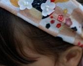 Japanese fabric headband with cherry blossoms