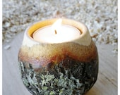 Natural bark, double curve candle holder