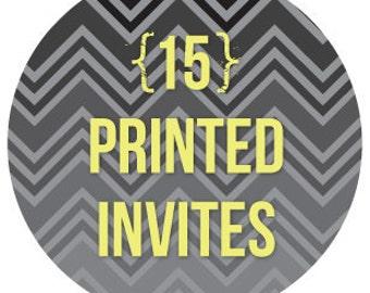 ala carte printing of 15 invitations