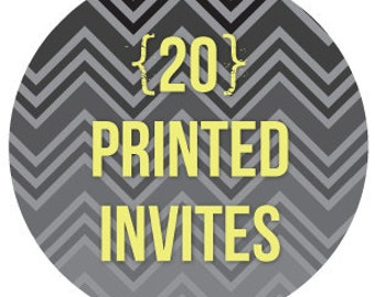 ala carte printing of 20 invitations