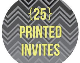 ala carte printing of 25 invitations