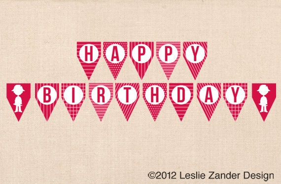 HAPPY BIRTHDAY personalized printable banner