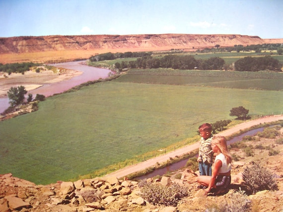 Vintage Original Poster New Mexico Historic Nature and Agriculture Advertisement