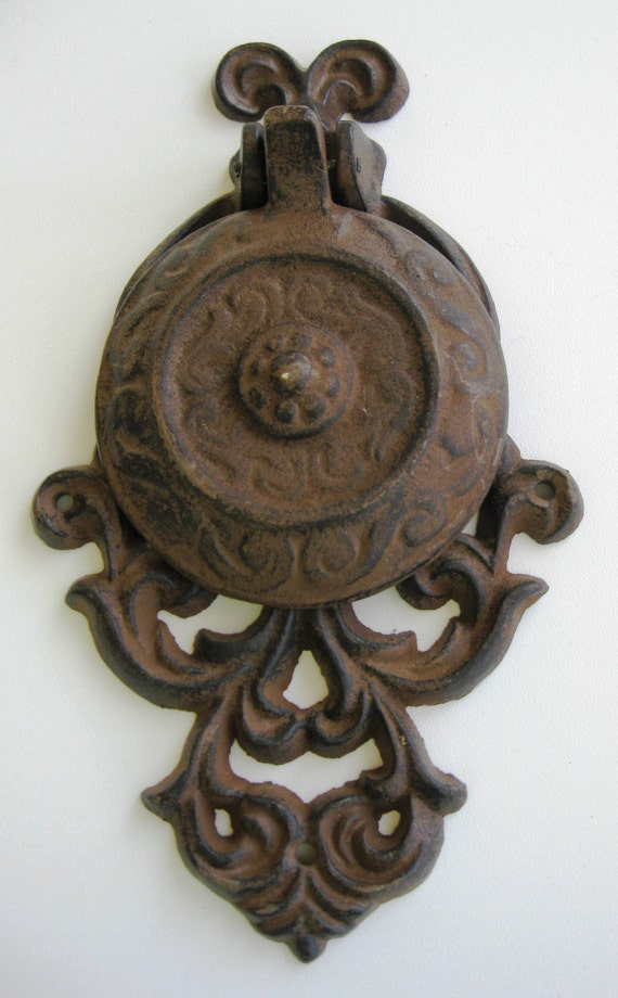 Decorative Door Knocker, Rustic Cast Iron  SHIPPING INCLUDED