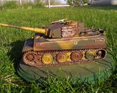 """Tiger I tank model, 1/35 scale. Panzer VI also known as the """"Tiger Tank""""."""