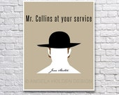 Jane Austen: Mr. Collins at your service 8x10 Print