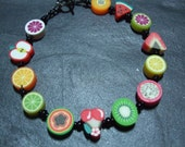 Tutti Frutti Collection Fruit Salad Kitsch Polymer Clay Bracelet