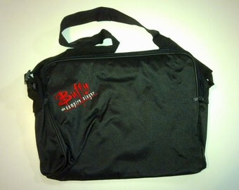 Laptop shoulder bag with Buffy the vampire slayer logo