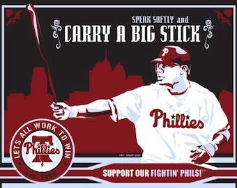 Ryan Howard  - Philadelphia Phillies Baseball Screen Print