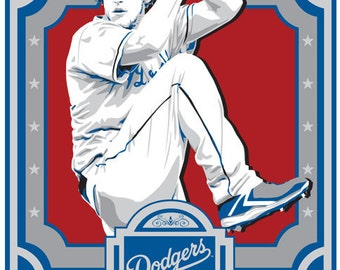 Clayton Kershaw -  Los Angeles Dodgers Baseball Screen Print