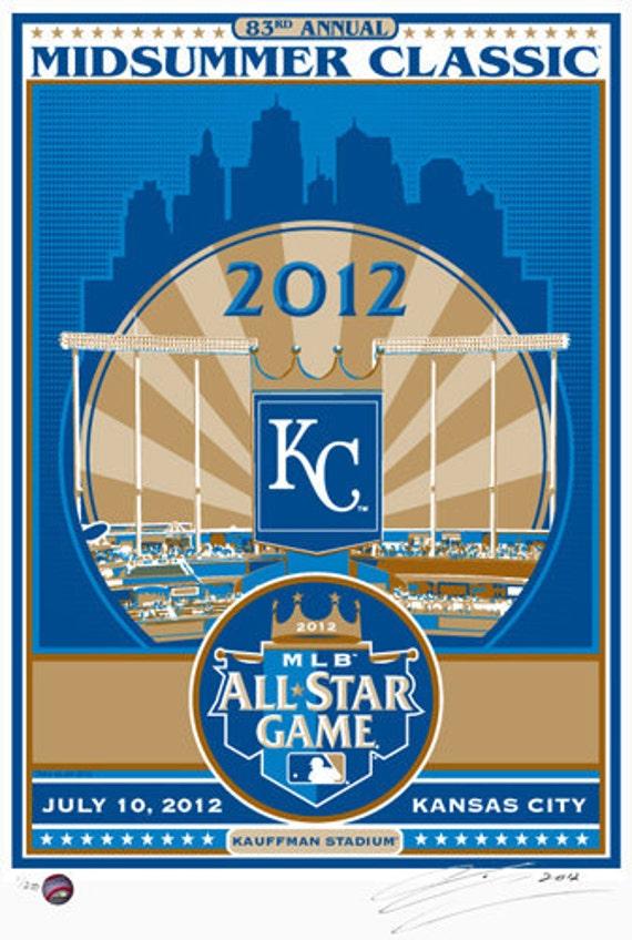 2012 All-Star Game in Kansas City, Baseball Screen Print