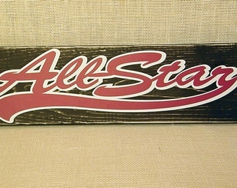 Allstar - rustic black with red& white