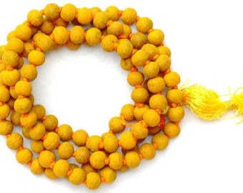 Turmeric Mala -  for sucess in court cases and destroying enemy