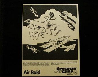 Vintage Crossman Air Raid Shooting Games Target
