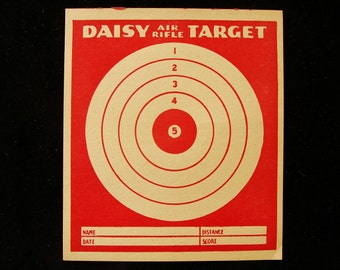 Vintage Daisy Air Rifle Target with Ad on Back