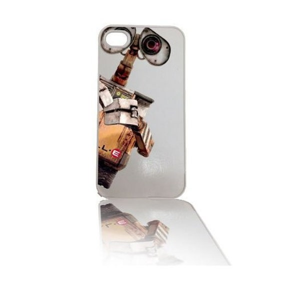 Wall-e Robot (White Background) iPhone 4 4s, iPhone 5 5s 5C, iPhone 6 6 Plus, IPOD 5G, Hardshell, Silicone, 2-in-1 Protective Case