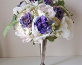 Paper flower, fabric flower, broach center flowers, Bridal bouquet, SECRET GARDEN by Alternative blooms on ETSY