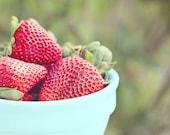 Fresh Strawberries (Original 5x7 Fine Art Print) Food Photography