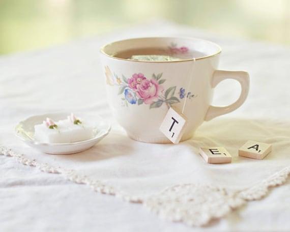 Scrabble Tea 8x10 print