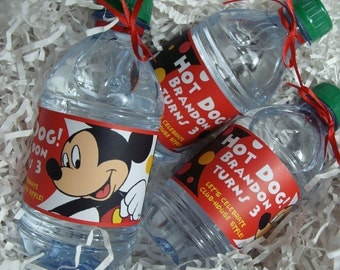 Mickey Mouse Water Bottle Wrappers - For Child Birthday