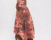 Tie Dyed Long Knit Skirt - Small