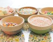 Party Favors: Wooden Mini Bowl Set of 50, Custom Color